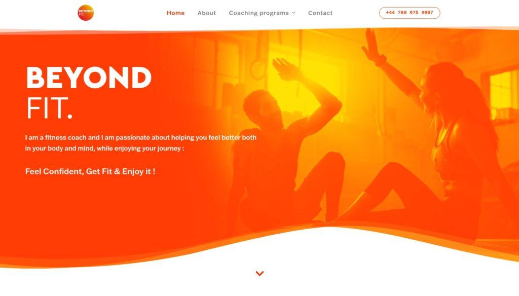 Beyond Fit site internet Coach sportif