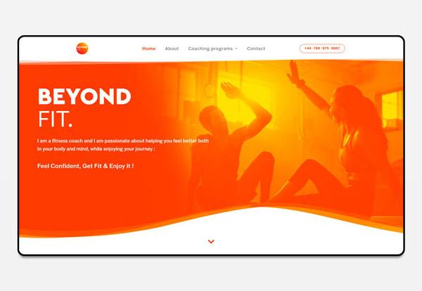 Refonte de site internet coach sportif