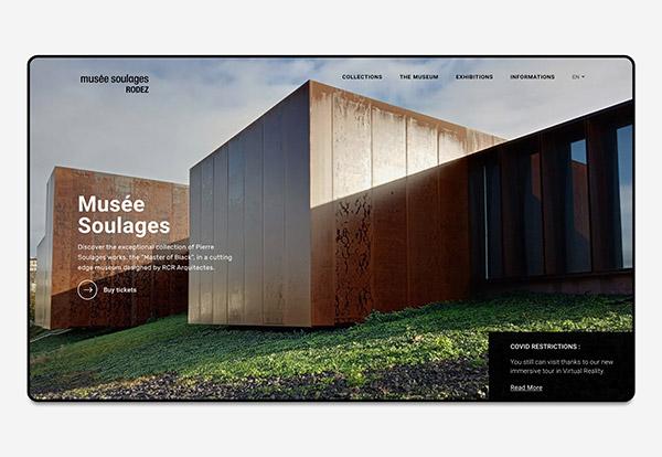 Refonte site internet Musée Soulages Rodez